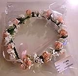おもてなし 結婚式 ブライダル お祝いに 花冠 フラワーヘッド パールカラーヘアピン3本付き