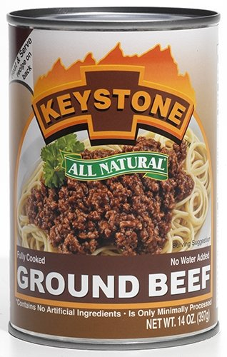 Keystone Meats All Natural Canned Beef, Ground, 14 Ounce (Keystone Canned Meat compare prices)