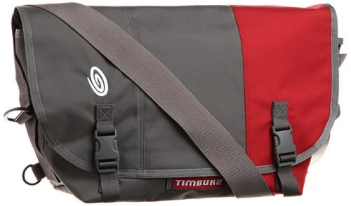 TIMBUK2 Classic Messenger Bag - M, Grey (Gunmetal/Rev Red)