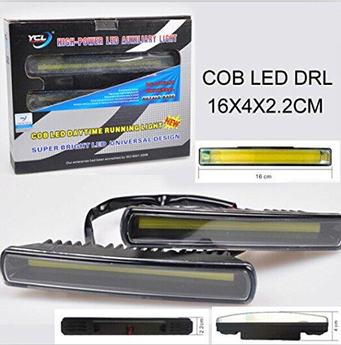 Suparee Waterproof Aluminum High Power Drl White Slim Cob Led Drl Daylight Driving Daytime Running Light Lamp For Carauto