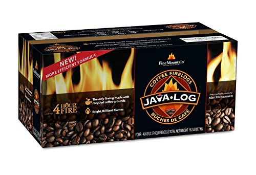 Great Features Of Pine Mountain Java-log Firelog, 4-Hour Burn Time, Recycled Coffee Grounds, 4 Logs