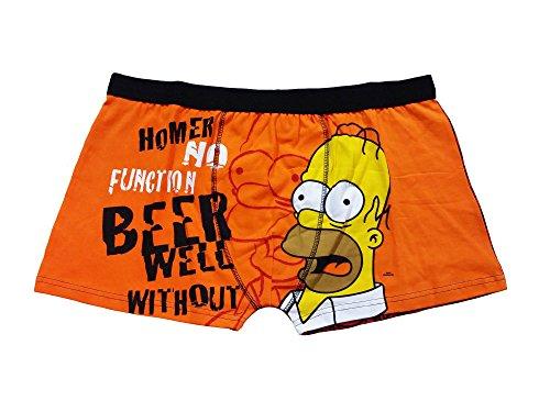 The Simpsons Homer Simpson a forma di Boxer da uomo (S) Arancione