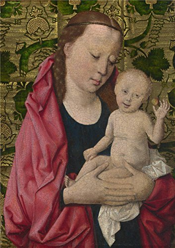 'Workshop Of Dirk Bouts The Virgin And Child ' Oil Painting, 18 X 26 Inch / 46 X 65 Cm ,printed On Polyster Canvas ,this Reproductions Art Decorative Prints On Canvas Is Perfectly Suitalbe For Bedroom Gallery Art And Home Artwork And Gifts (Caulk Finishing Tool Spatula compare prices)