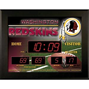 Washington Redskins Deluxe Illuminated Scoreboard by Team Sports America
