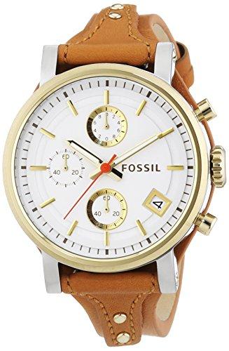 Fossil Boyfriend ES3615 - Reloj para mujeres, correa de cuero color marrón