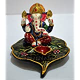 Collectible India Metal Painted Ganesha Diyas Diya Decoration Home Decor Gift