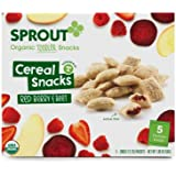 Sprout Toddler Fruit and Veggie Cereal Snack, Red Berry and Beet, 1.98 Ounce