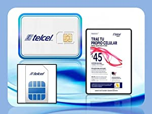 Telcel America wireless cell phone prepaid 4G sim cards (Lot of 10) new & inactivated