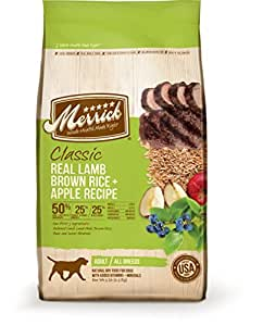 Merrick Classic Adult Real Lamb, Brown Rice and Apples Dry Dog Food, 15-Pound