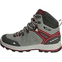 QUECHUA FORCLAZ 500 HIGH WOMEN'S WATERPROOF WALKING BOOTS - GREY