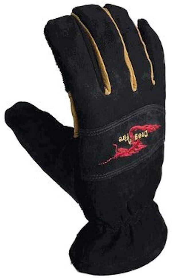 Dragon Fire Alpha X NFPA Firefighting Glove Black/Tan (Color: Black/Tan, Tamaño: Small)