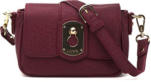LIU JO, borsa da donna, Borsetta, Borsa da sera, Borsa a tracolla, Bordeaux, 22 x 15 x 4cm (LxHxP)