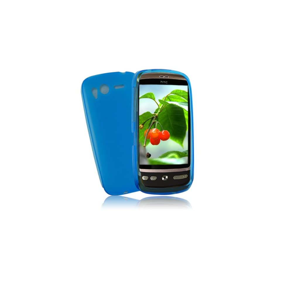 palace  Blue gel case cover pouch holster for htc desire S