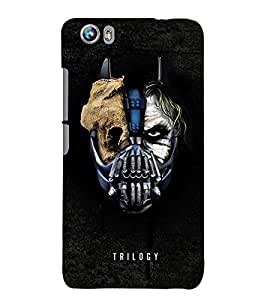 MONSTER FACE SHOWING DOUBLE PERSONALITY 3D Hard Polycarbonate Designer Back Case Cover for Micromax Canvas Fire 4 A107