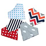 Baby Bandana Drool Bibs for Boys & Girls Unisex 5 Pack Absorbent Cotton Modern Baby Set