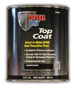 POR-15 (45904) Top Coat Chassis Black - 1 Quart