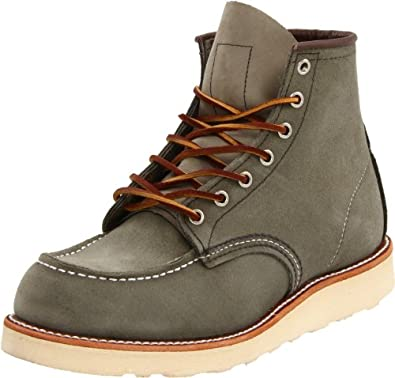 Red Wing Heritage Men's Classic Work 6-Inch Moc Toe Boot - Suede,Sage Mohave,7 D US