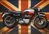 TRIUMPH TRTROPHY TR6 MOTORCYCLE METAL SIGN.