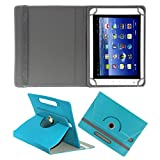 ACM ROTATING 360° LEATHER FLIP CASE FOR BSNL PENTA WS802C TABLET STAND COVER HOLDER GREENISH BLUE