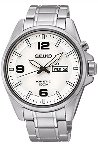 Seiko Smy135P1 Men Kinetic,Stainless Steel Case,Day/Date,100M Water Resistant