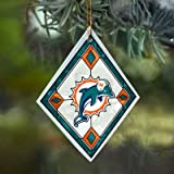 Miami Dolphins Stained Glass Ornament