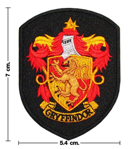 Harry Potter House GRYFFINDOR Crest Iron Patch