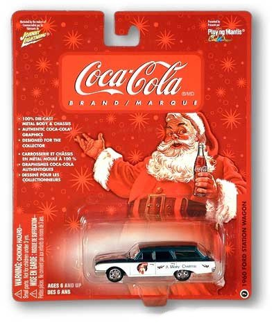 Buy Coke Coca-Cola Santa & Polar Bears Collectable Johnny Lightning Car 1960 Ford Station Wagon #7