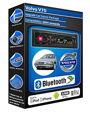 Alpine-Volvo V70 UTE 72BT kit mains libres Bluetooth de voiture pour autoradio stéréo