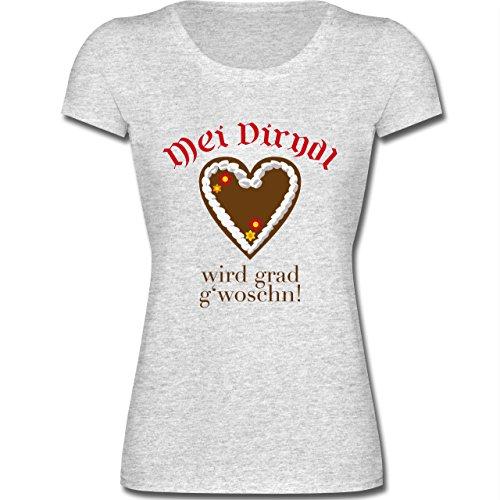 oktoberfest-damen-dirndl-wird-gwoschn-shirt-statt-dirndl-l-grau-meliert-f288n-kurzarm-t-shirt-fur-da