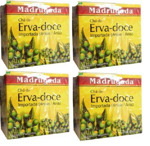 Madrugada Fennel Tea - 0,35 Oz - 10 Bags - (Pack Of 4)