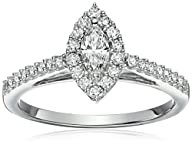 10k White Diamond Engagement Ring (5/8 cttw, H-I Color, I1-I2 Clarity)