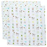 Jenny McCarthy Too Good Baby Muslin Swaddling Blankets A-Z Muslin Swaddle Blankets - Set Of 2