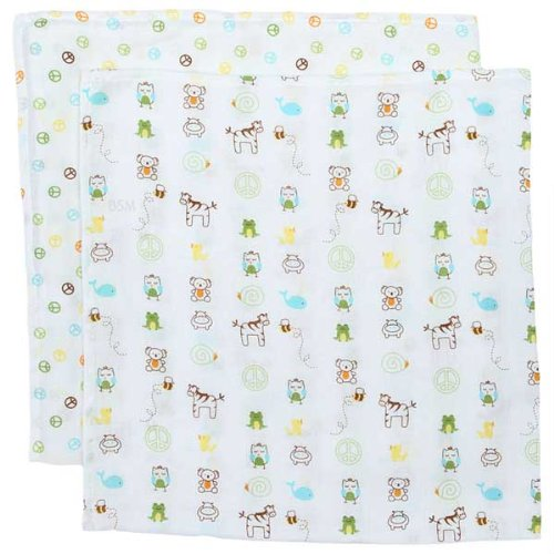 A-Z Muslin Swaddle Blankets - Set of 2 - 1