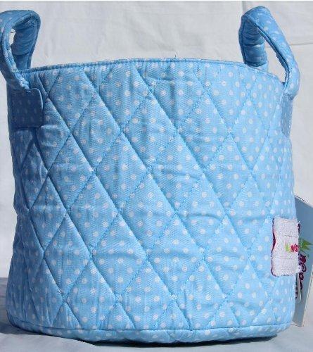 Minene Uk Ltd Small Storage Basket with Dots (Blue)