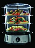 Russell Hobbs 19270 Stainless Steel 800W 9L 3 Tier Food Steamer Rice Cooker