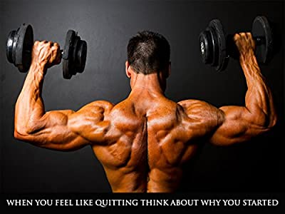 Workout Poster Fitness Poster Bodybuilding Poster Gym Motivation 24X36