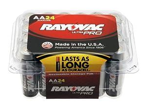 Rayovac ALAA-24 UltraPRO Alkaline AA Batteries, 24-Pack
