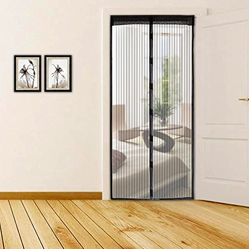 ougee magnetic screen door mesh curtain for sliding glass