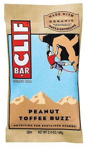 Clif Bar Energy Bar, Peanut Toffee Buzz, 2.4-Ounce Bars, 12 Count