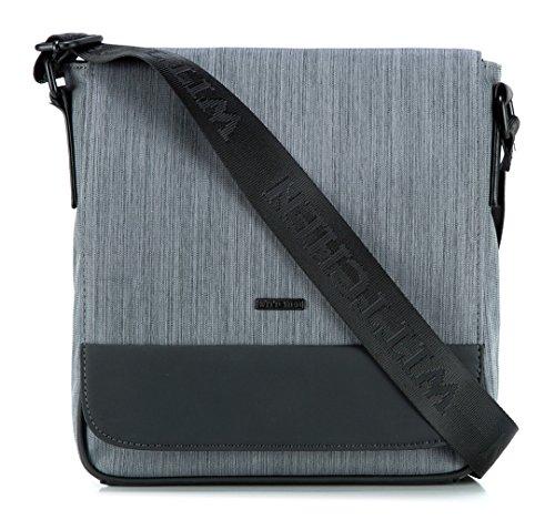 WITTCHEN-Herren-Umhngetaschen-Unterarmtasche-65-x26-x25-cm-Grau-Polyester-Polyester-Handmade-82-4P-503-8