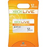 Xbox 360 Live 12 Month Gold Card