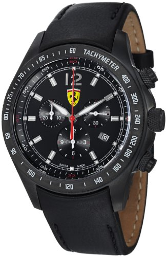 a489694857d Hopefully you will satisfied with Ferrari Scuderia Ferrari Chrono Swiss  Made Men s Black PVD Watch FE-07-IPB-CP-BK We guarantee you will get  Ferrari ...