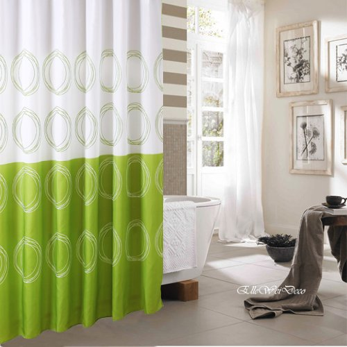 Laura Ashley Seaspray Curtains Bright Green Shower Curtain