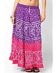 Soundarya Women Cotton Skirts -Pink -Free Size - B00MPU1KRU