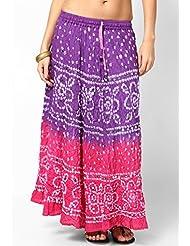 Soundarya Women Cotton Skirts -Pink -Free Size - B00MPU1KRU