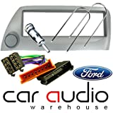 FORD KA SILVER FULL CAR STEREO/RADIO FITTING KIT - Includes a Silver Facia Adapter, Removal Keys, Aerial Adapter and ISO wiring harness.