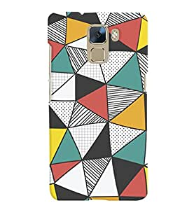 ColourCrust Huawei Honor 7 / Dual Sim / Enhanced Edition Mobile Phone Back Cover With Abstract Style Modern Art - Durable Matte Finish Hard Plastic Slim Case