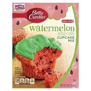 Amazon.com : Betty Crocker Watermelon Cake Cupcake Mix 3 ...