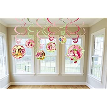 Strawberry Shortcake Hanging Swirl Value Pack (Pink) Party Accessory
