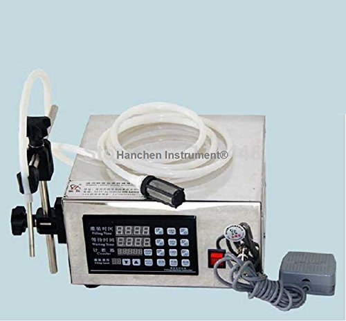 Hanchen Instrument® Microcomputer Control Automatic Water Liquid Filling Machine Liquid Filler 5 ml-3500 ml applicable to the low viscosity, no particles of liquid packing, small batch production